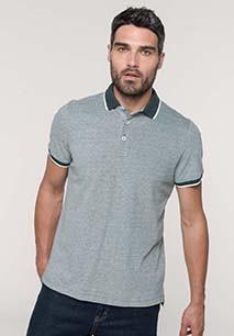 Men's two-tone marl polo shirt