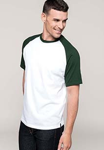 Baseball > Short-sleeved two-tone T-shirt