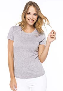 Ladies' short-sleeved crew neck T-shirt