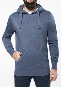 Men's melange hooded sweatshirt