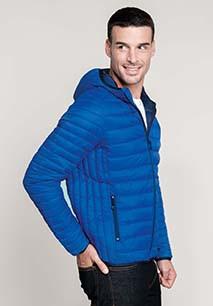 Men's lightweight hooded padded jacket