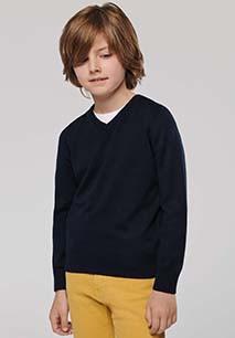 Kids' V-neck jumper