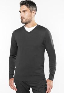 Men's V-neck jumper