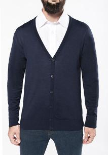 Men's merino wool button front cardigan