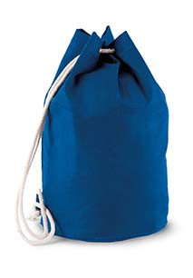 Cotton sailor-style bag with drawstring
