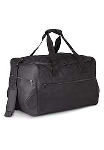 Travel bag with built-in shelves