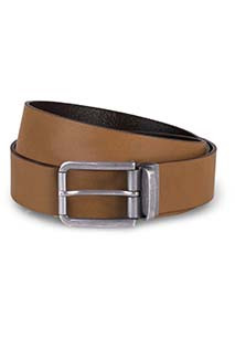 Raw edge leather belt - 35 mm
