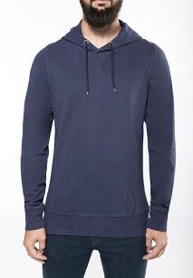 Men's long-sleeved hooded T-shirt