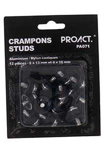 Pack of 12 conicalaluminium/nylon studs