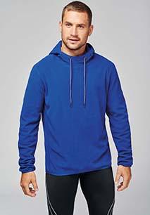 Microfleece hooded sweatshirt