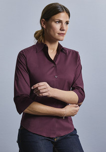 Ladies' 3/4 Sleeved Fitted Shirt