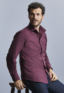 Men's Long-Sleeved Fitted Shirt
