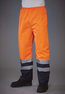 Hi-Vis Waterproof Over Trousers