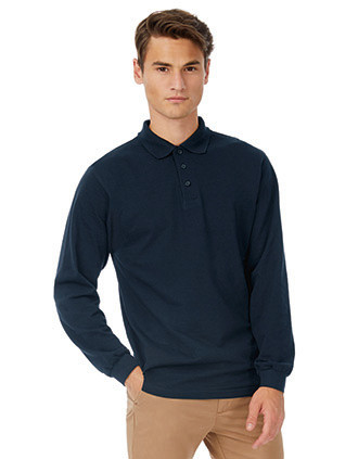 Safran Men's long-sleeved polo shirt