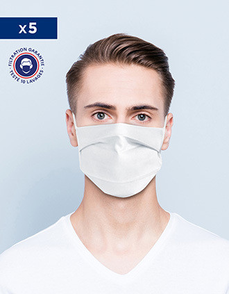 Face Mask Afnor UNS1 - Reusable and Washable with nose bar