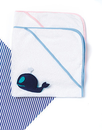 Babies' hooded Terry towel