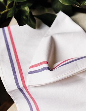 """2-stripe tea towel - """"Origine France Garantie"""""""