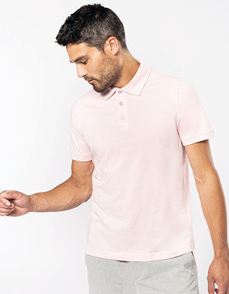 Men's short-sleeved piqué polo shirt