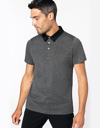 Men's two-tone jersey polo shirt