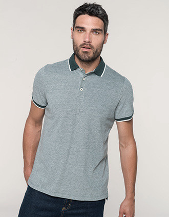 Men's two-tone marl polo shirt
