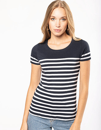 Ladies' Organic crew neck sailor T-shirt