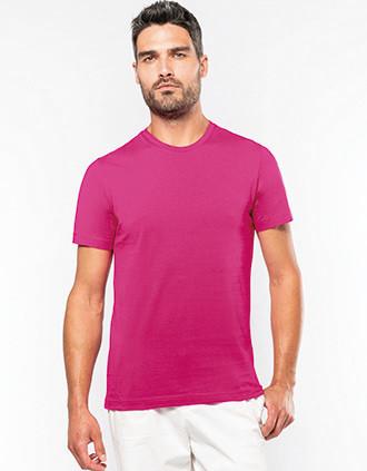 Short-sleeved crew neck T-shirt