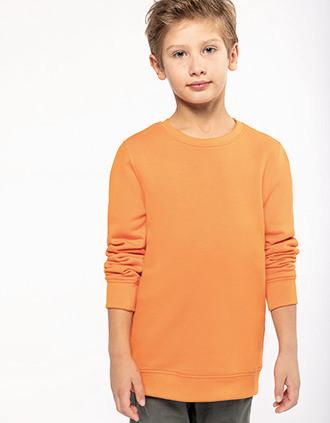 Kids' eco-friendly crew neck sweatshirt