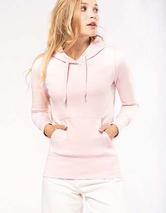 Ladies' eco-friendly hooded sweatshirt