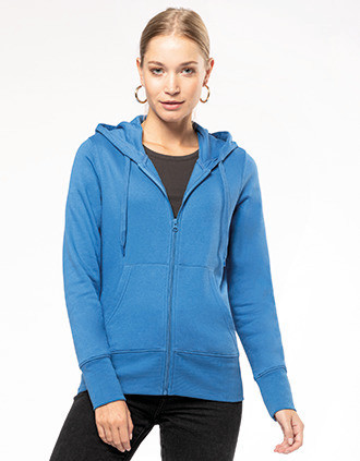 Ladies' eco-friendly zip-through hoodie