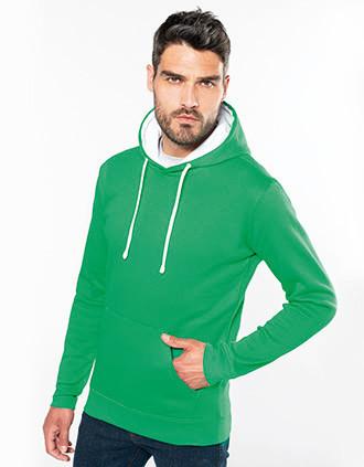 Men's contrast hooded sweatshirt