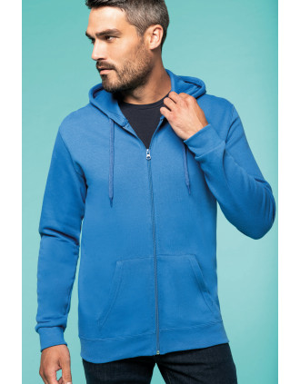 Full zip hoodedsweatshirt