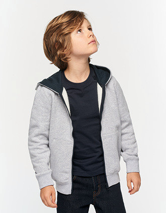 Kids' full zip hooded sweatshirt