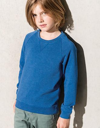 Kids' organic raglan sleeve sweatshirt