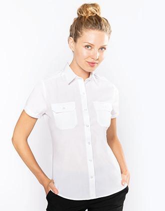Ladies' short-sleeved pilot shirt