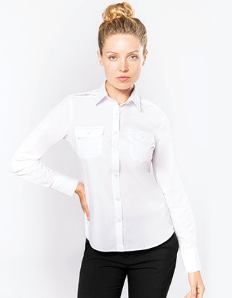 Ladies' long-sleeved pilot shirt