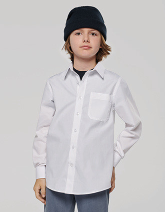 Kid's LONG-SLEEVED Poplin Shirt