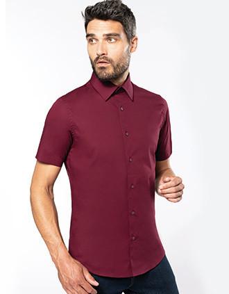 Cotton/elastane short-sleeved shirt