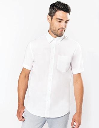 Men's short-sleeved Oxford shirt