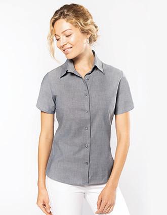 Ladies' short-sleeved Oxford shirt