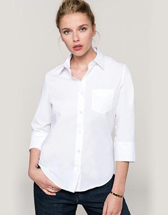 Ladies' 3/4 sleeved shirt