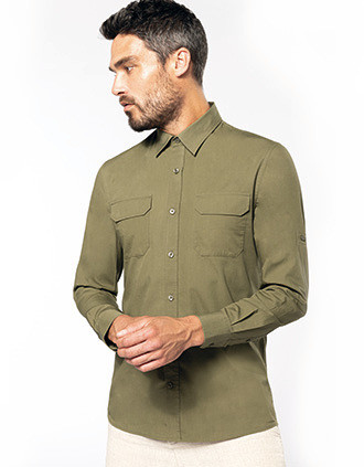 Men's long-sleeved safari shirt