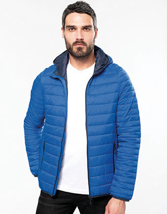 Men's lightweight hooded padded jacket