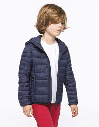 KIDS' LIGHTWEIGHT HOODED PADDED jacket