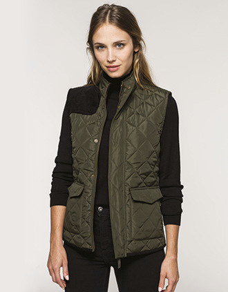 Ladies' quilted bodywarmer