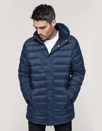 Men's lightweight hooded padded parka