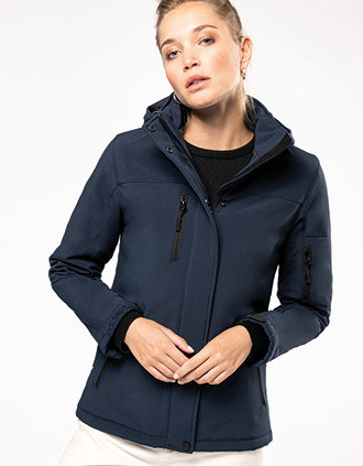Ladies' hooded softshell lined parka