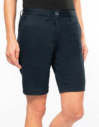 Ladies' chino Bermuda shorts