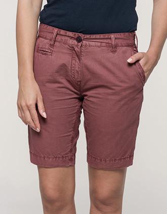 Ladies' washed effect bermuda shorts
