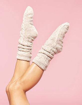 Sherpa-lined Lounge socks