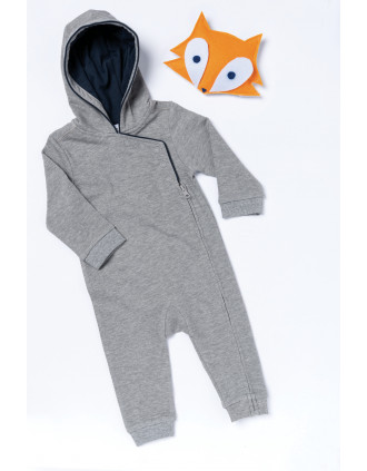 Babies' hooded romper